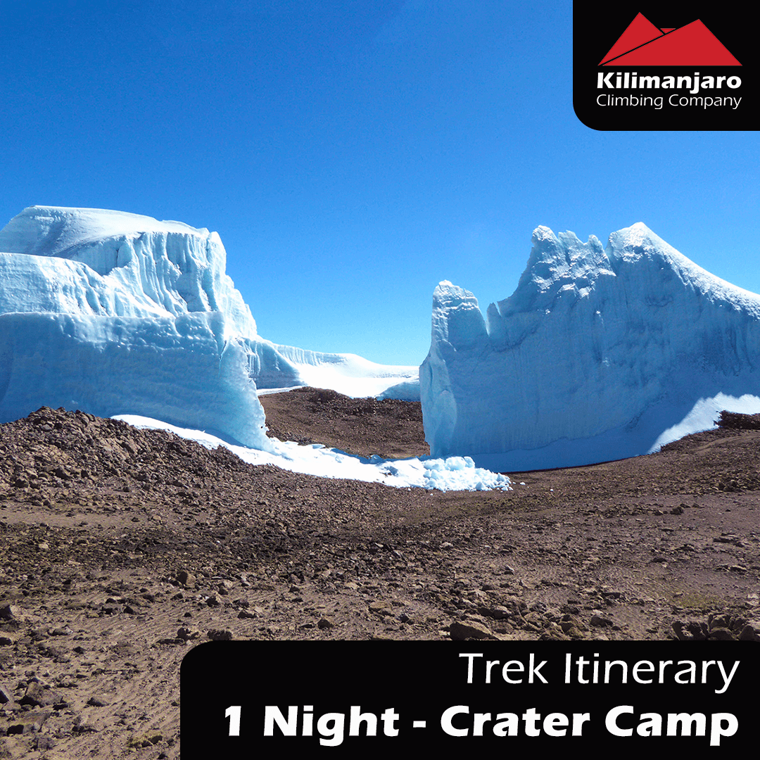 1 NIGHT – CRATER CAMP